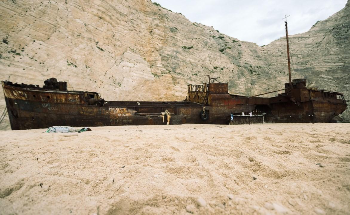 Длинный грузовой корабль на Закинфе