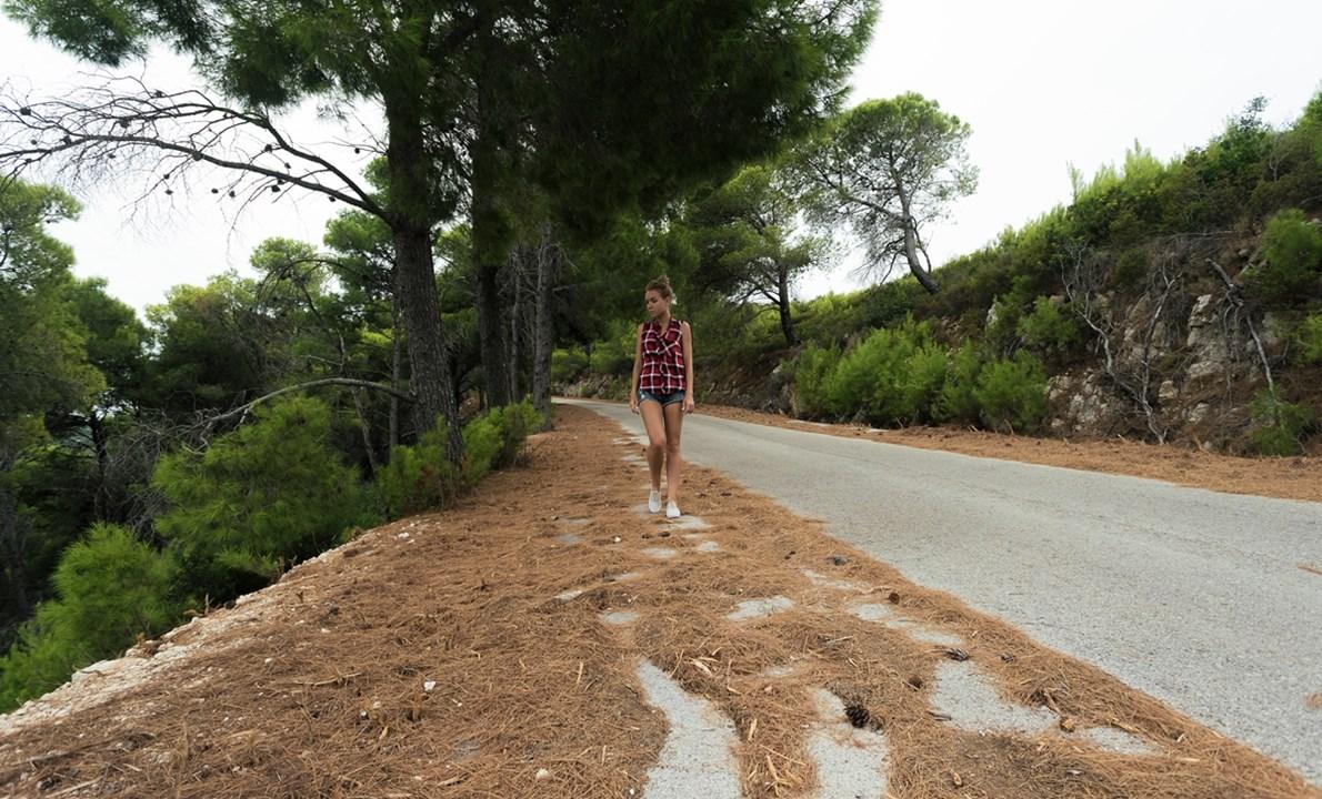 Сосновые иголки по дороге к Porto Selinas