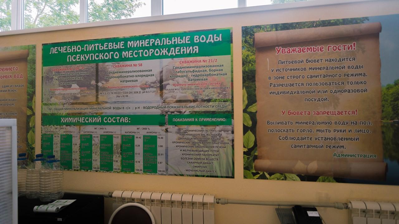 Свойства лечебно-питьевой минеральной воды Псекупского месторождения