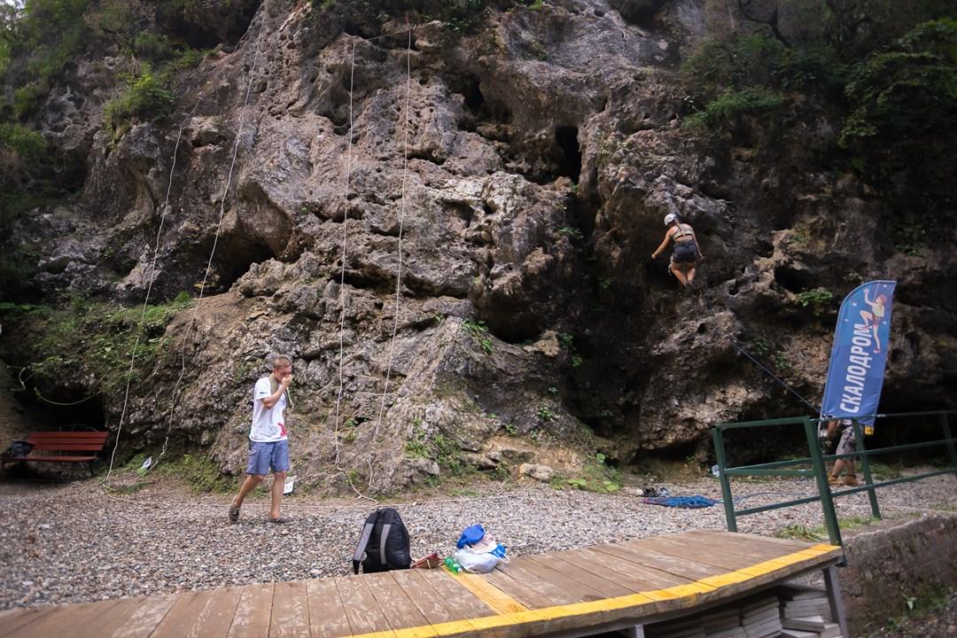 Скалодром в Гуамском ущелье