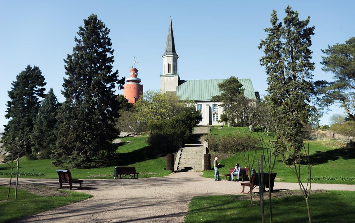 Церковь и водонапорная башня Ханко