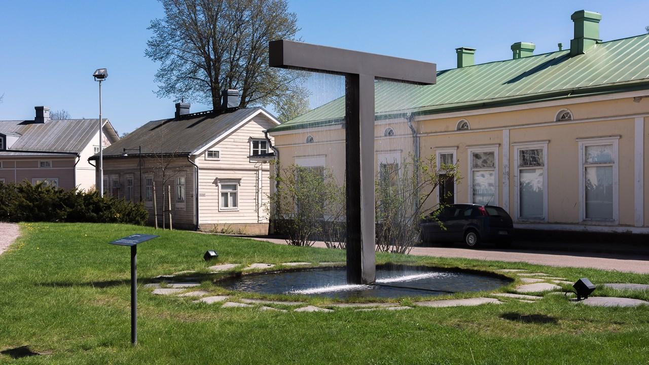 Памятник в виде фонтана в Расеборге