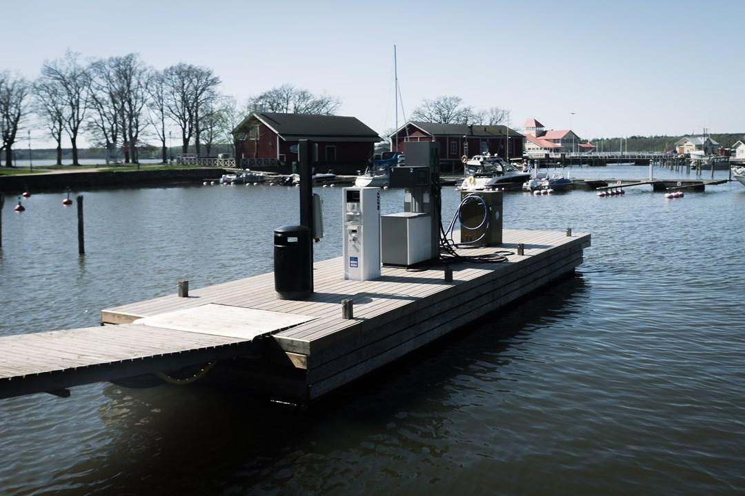 Заправочная станция для лодок в Экенэсе