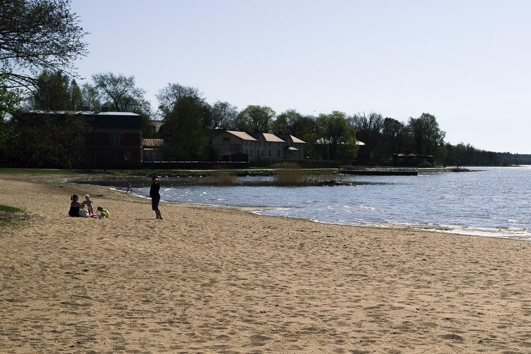 Пляж в Расеборге в Экенэсе