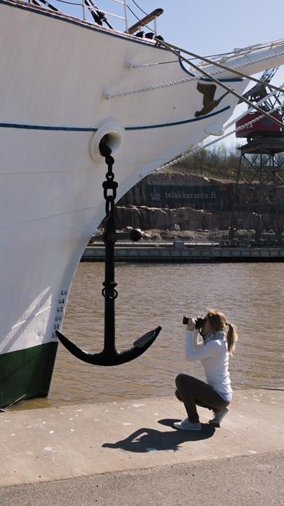 Исследую фрегат «Суомен Йоутсен»