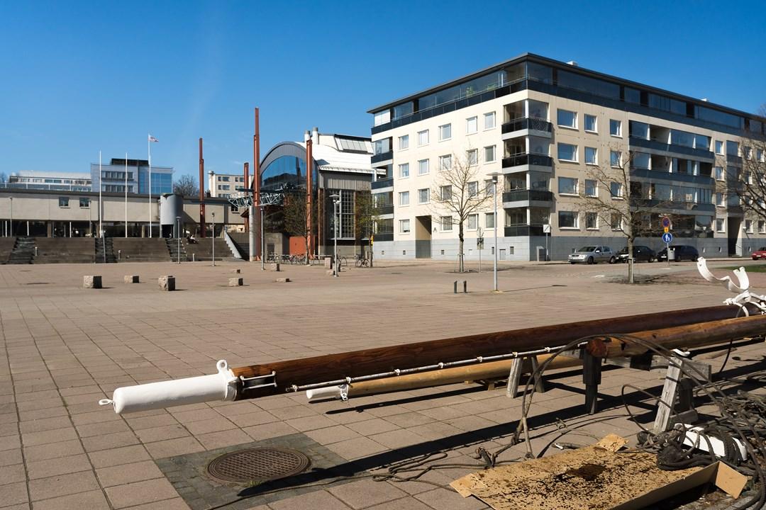 Площадь у набережной финского города Турку