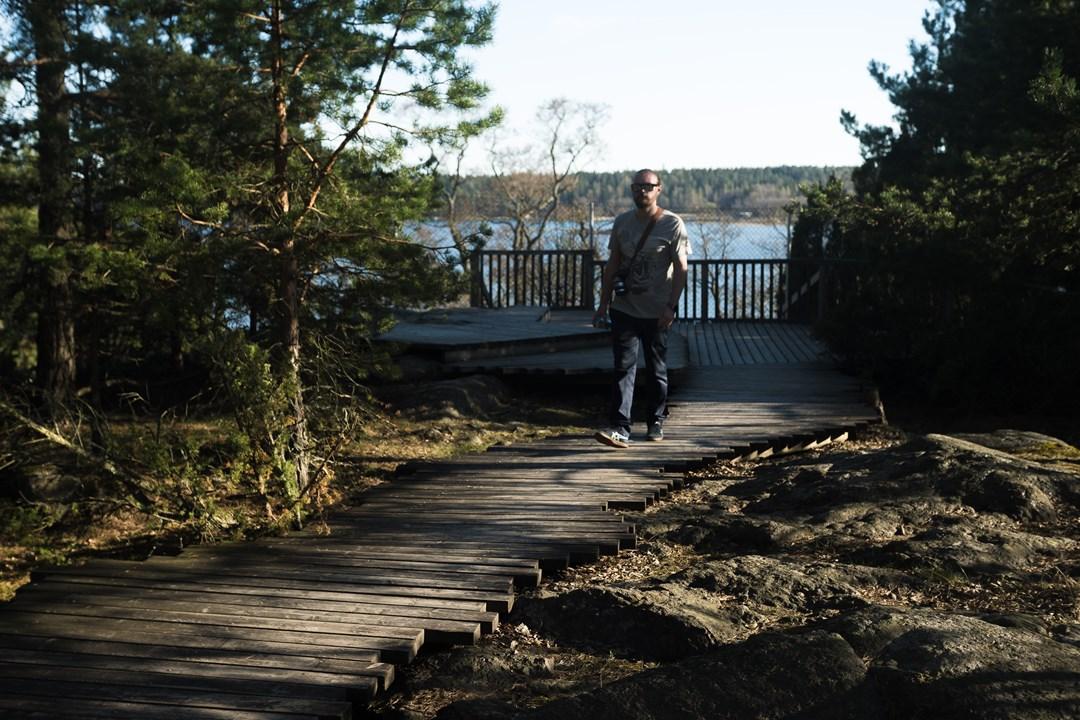 В парке Муми-троллей можно увидеть башню летнего замка Култаранта Президента Финляндии