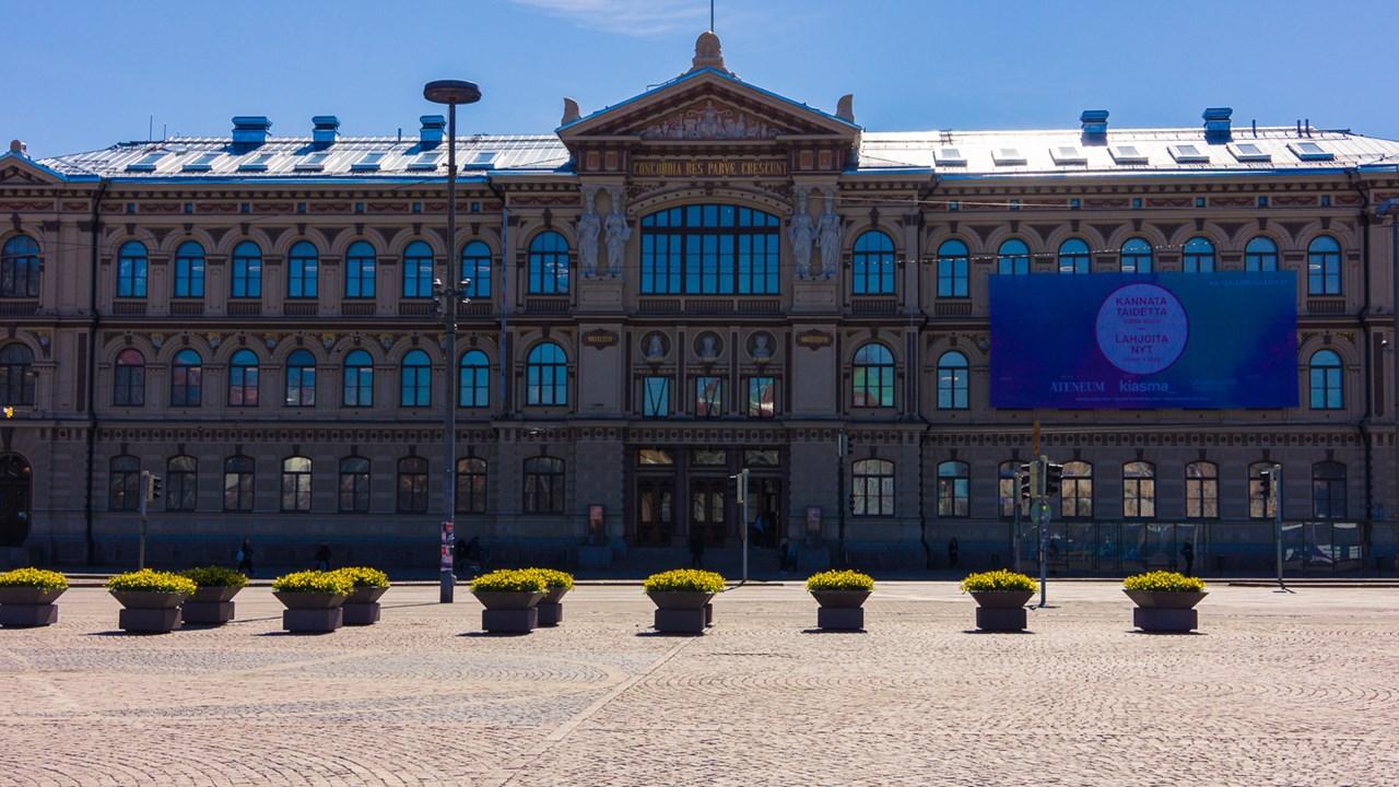 Художественный музей Атенеум в центре Хельсинки