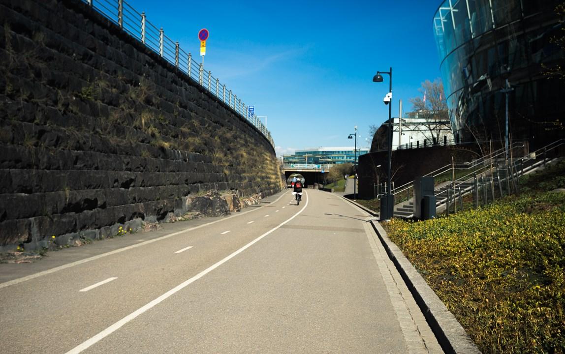 Велосипедная и пешеходные дорожки в Хельсинки