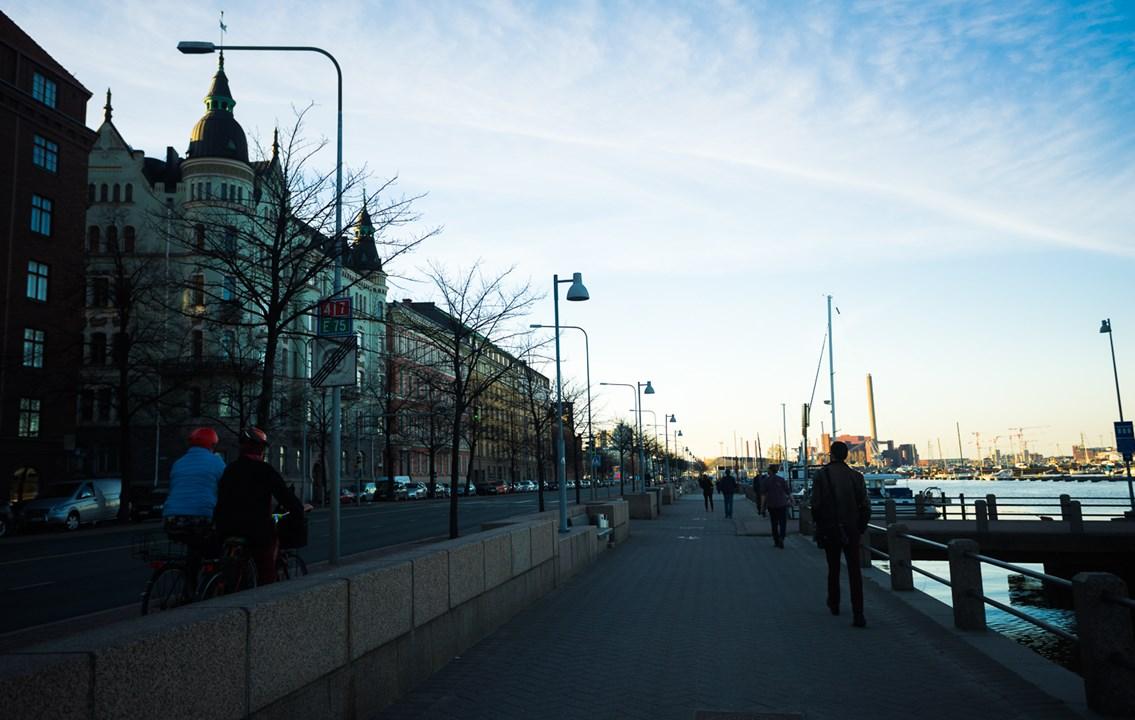 Набережная в центре Хельсинки