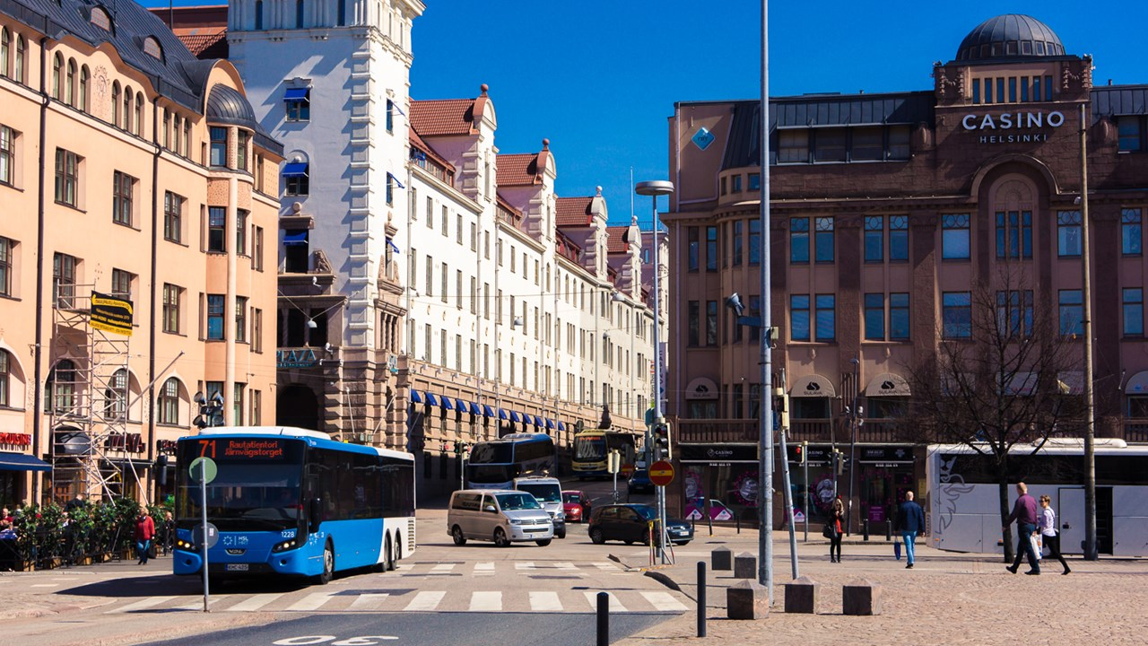 В центре Хельсинки на площади Railway Squareнаходятся несколько достопримечательностей