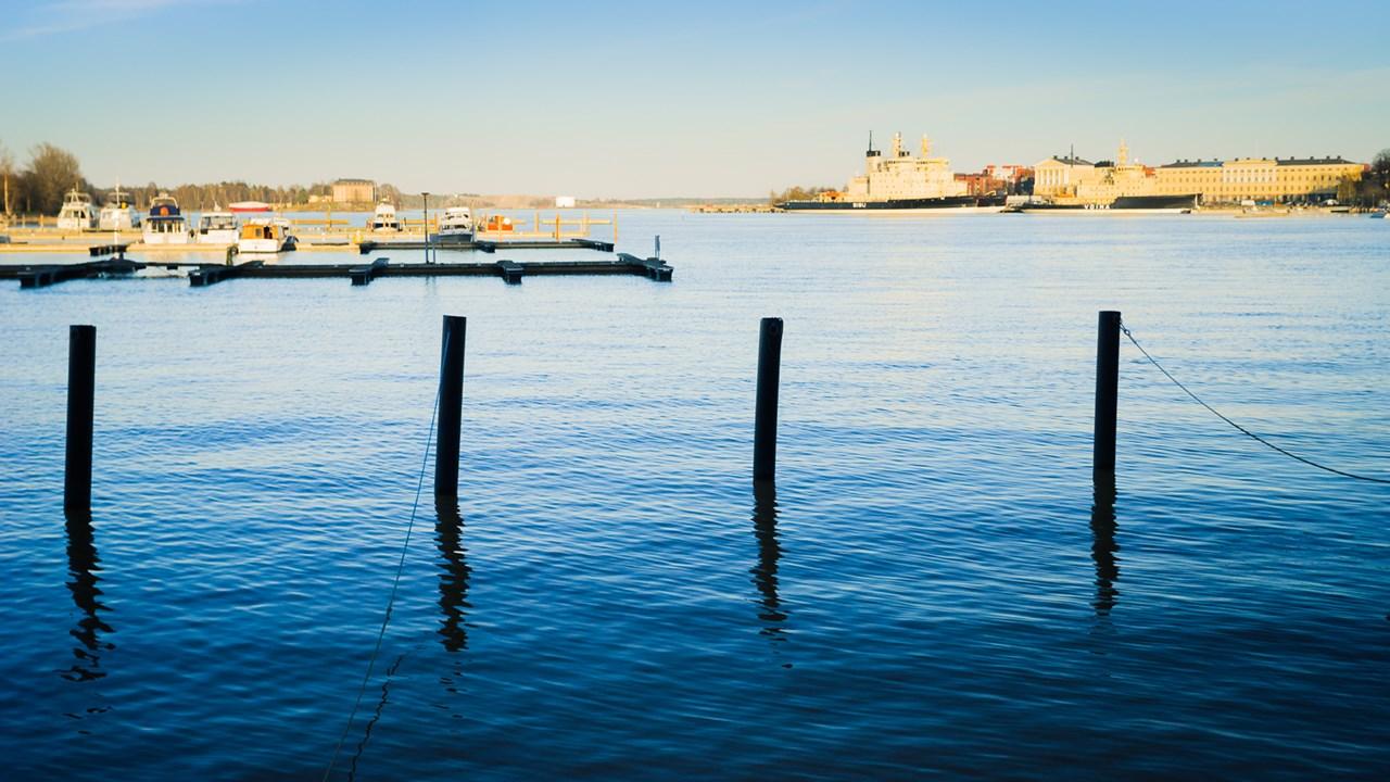 Вид с набережной Хельсинки