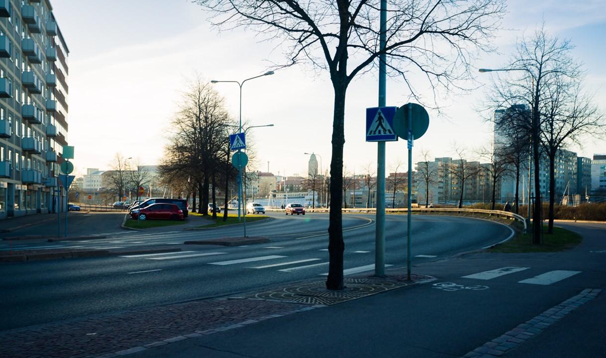 Закат в вечернем Хельсинки