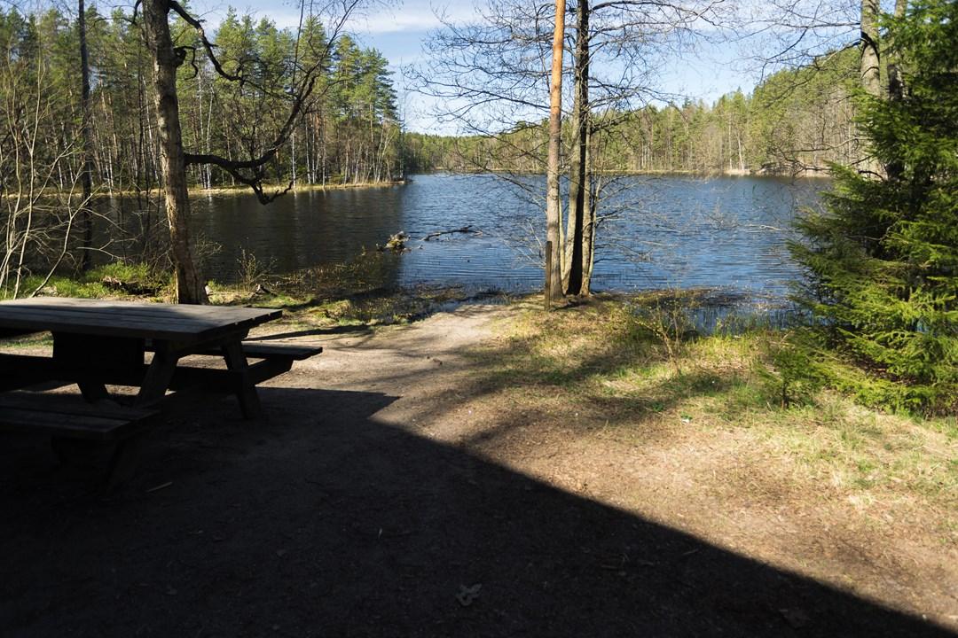 Вид на озеро Haukkalampi