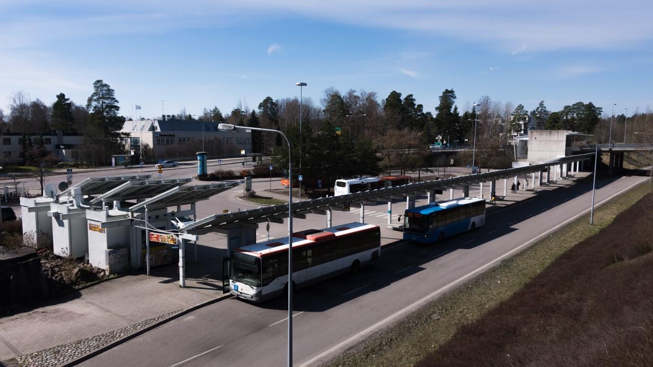 Автобусное депо в районе Westend