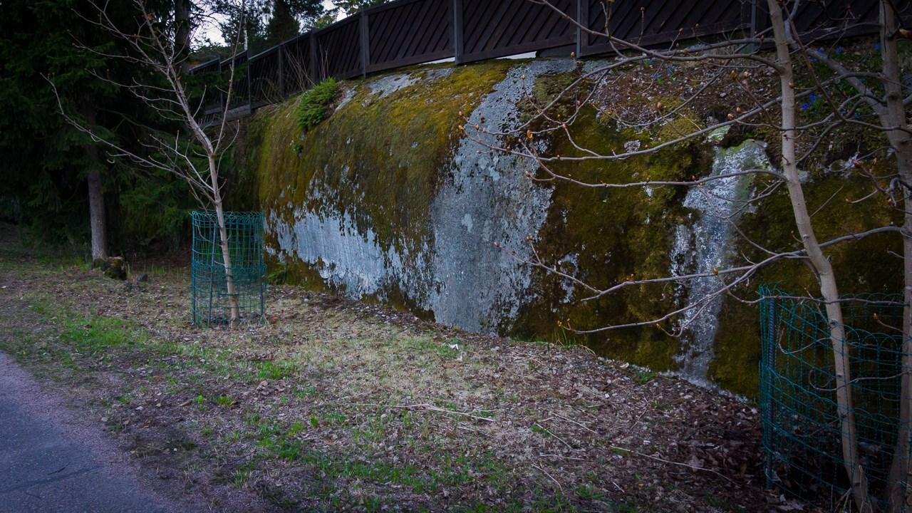 Каменный забор в Эспоо