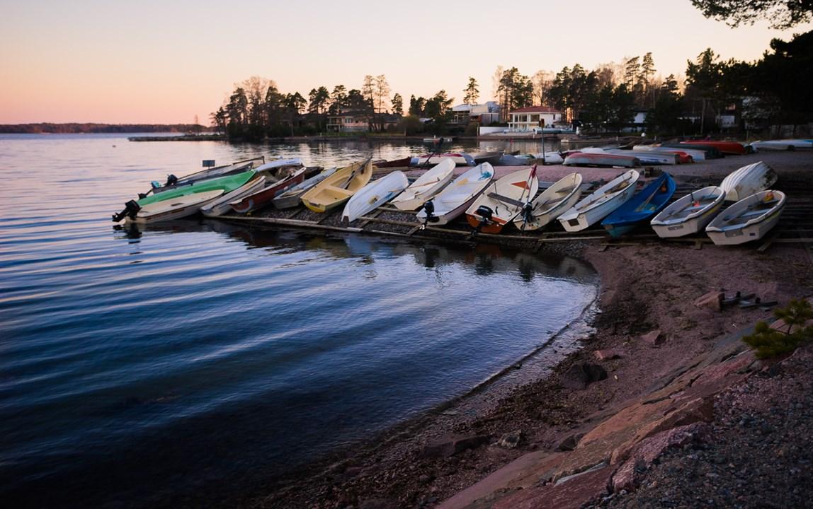 Лодки, принадлежащие жителям Эспоо