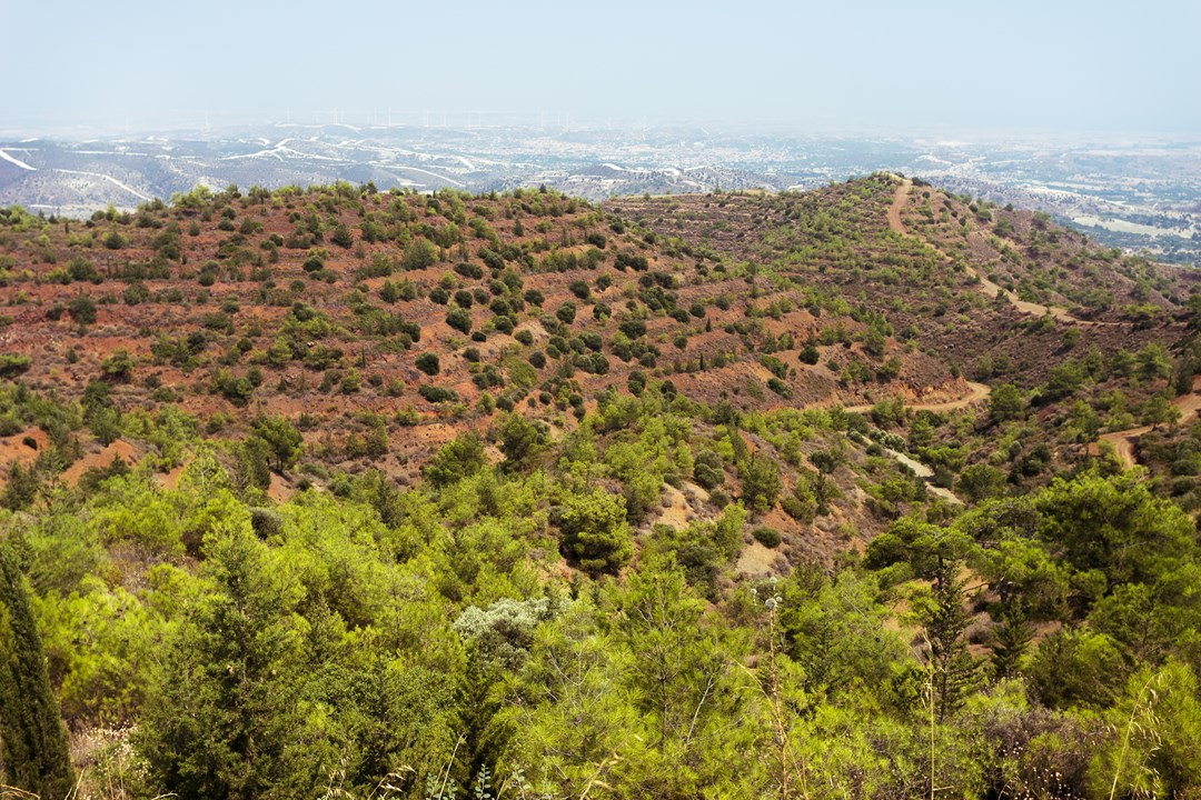 Земледельческие ступени на кипрских склонах