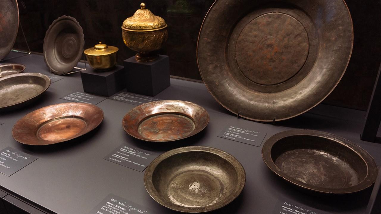 Тарелки из металла в Топкапы