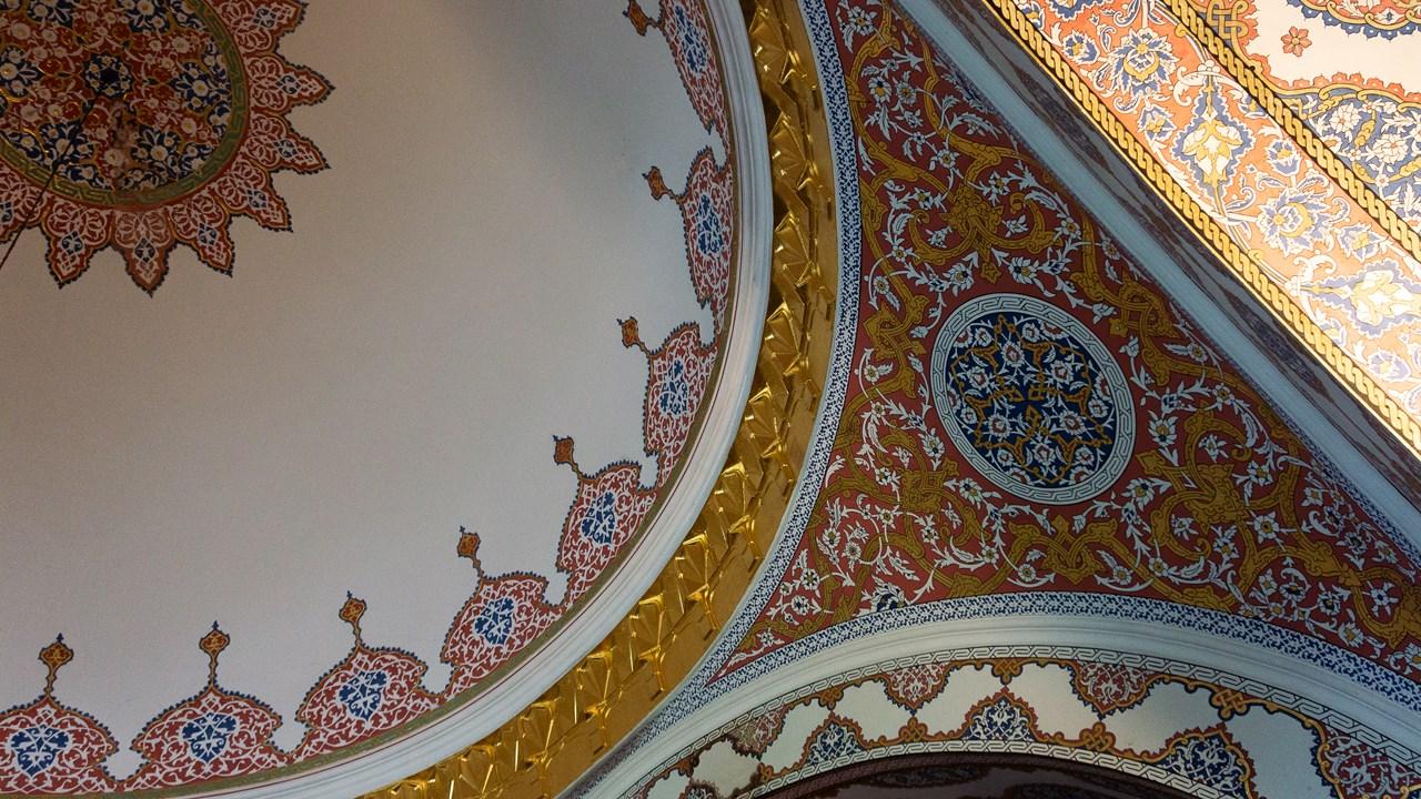 Расписные потолки в здании дворца Топкапы