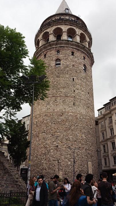 Галатская башня снизу