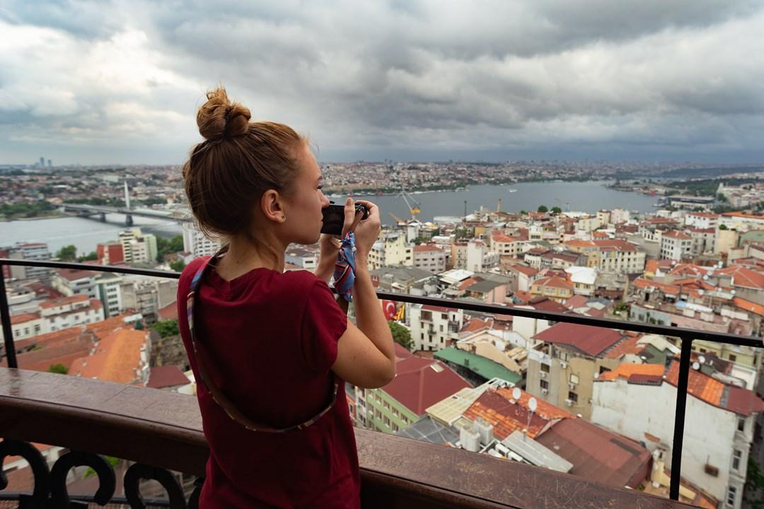 Ассасин с камерой на Галатской башне