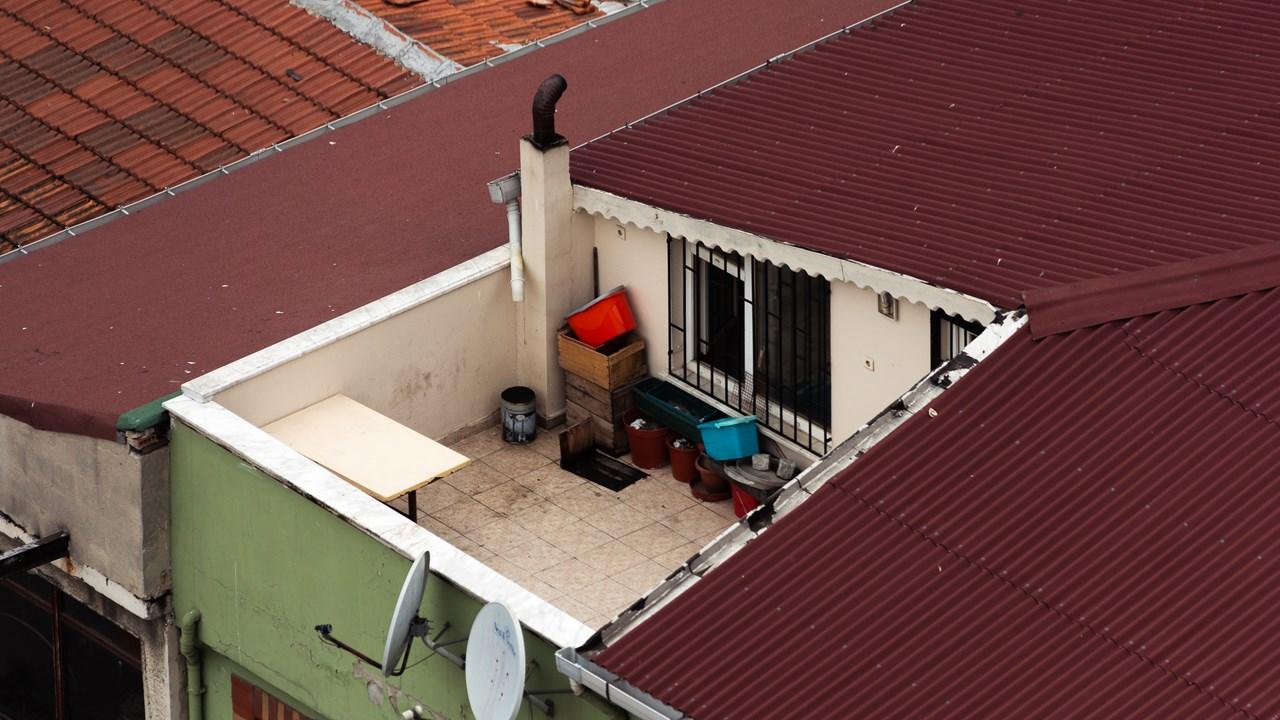 Балкон обычной турецкой семьи