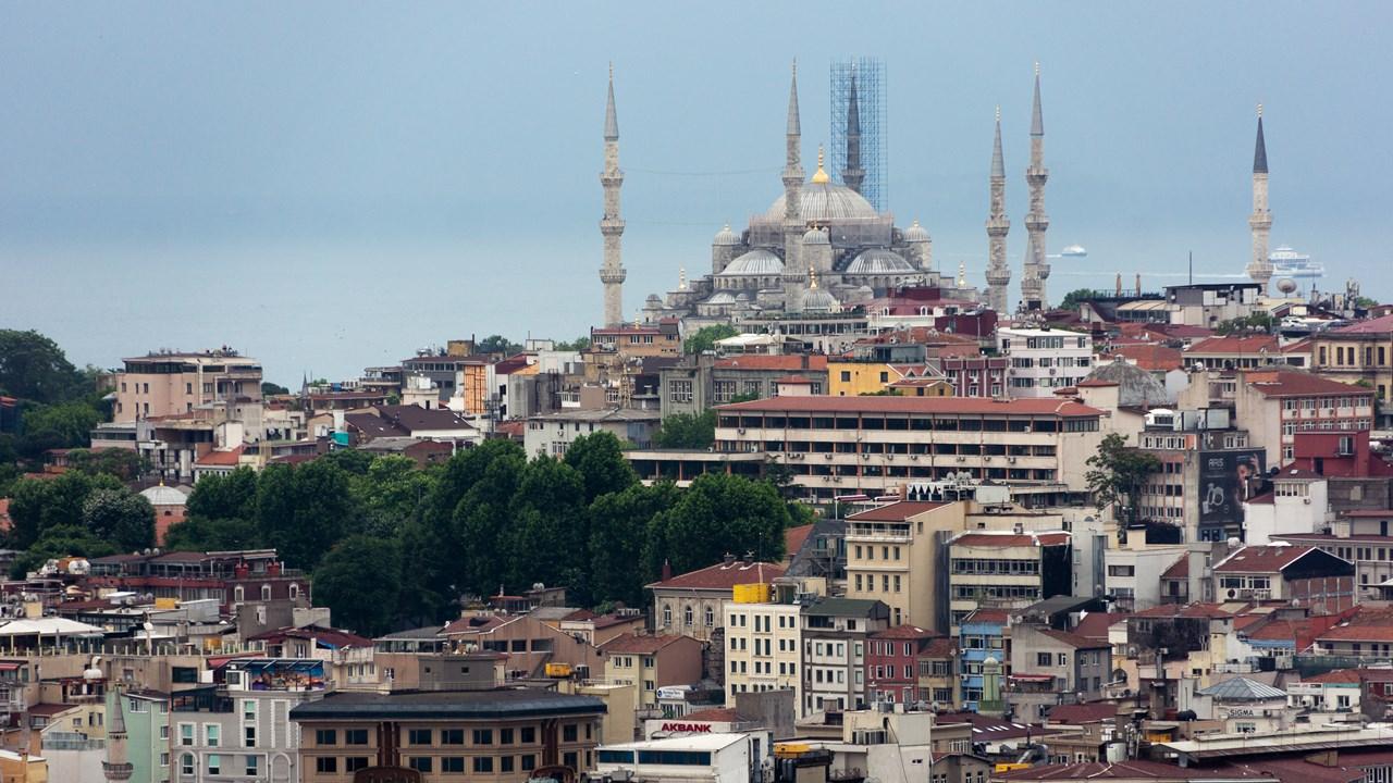 Вид на Голубую мечеть с Галатской башни