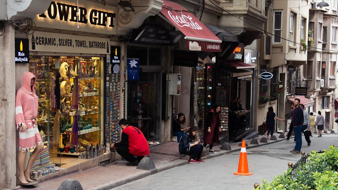 Магазины около Галатской башни